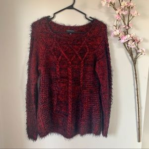 PARKHURST / RED COZY SWEATER